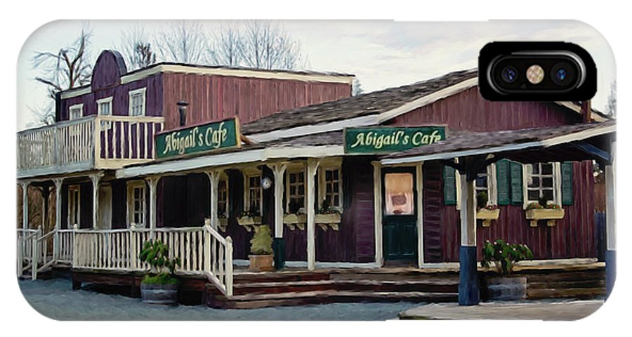 Abigails Cafe IPhone X / XS Case featuring the painting Abigail's Cafe - Hope Valley Art by Jordan Blackstone