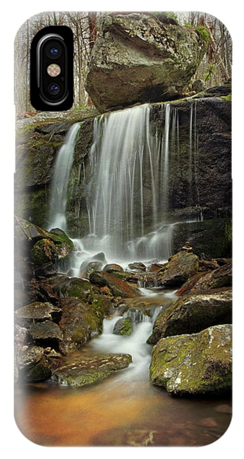 Waterfall IPhone X Case featuring the photograph Above Apple Orchard 1 by Virginia Dickens