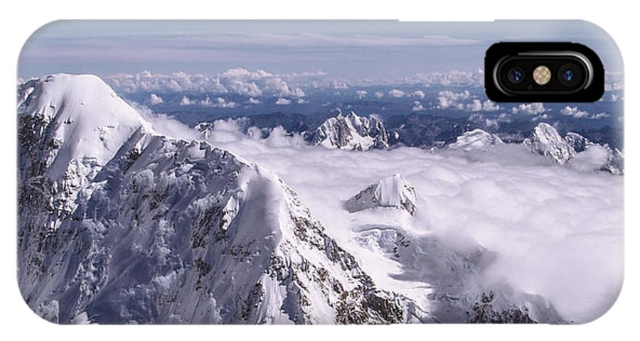Above Denali IPhone X Case featuring the photograph Above Denali by Chad Dutson