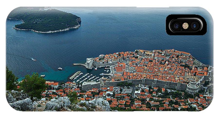 Dubrovnik IPhone X Case featuring the photograph Above Dubrovnik - Croatia by Stuart Litoff