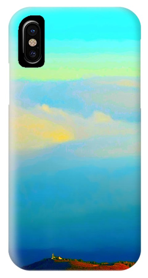 Clouds IPhone X Case featuring the photograph Above The Clouds by Stephen Edwards