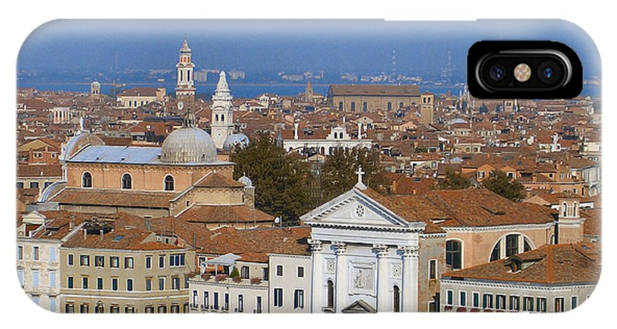Venice IPhone X Case featuring the photograph Above Venice by Lin Grosvenor