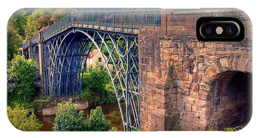 1779 IPhone X Case featuring the photograph Abraham Derbys Iron Bridge Rural Landscape by Chris Smith