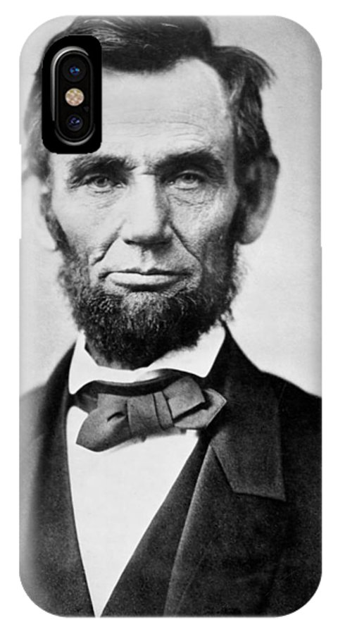 abraham Lincoln IPhone X Case featuring the photograph Abraham Lincoln - Portrait by International Images