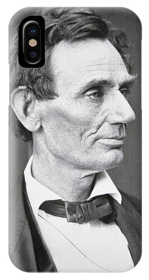 Abraham Lincoln (1809-65) 1860 (b/w Photo) By Alexander Hesler (1823-95) IPhone X Case featuring the photograph Abraham Lincoln by Alexander Hesler