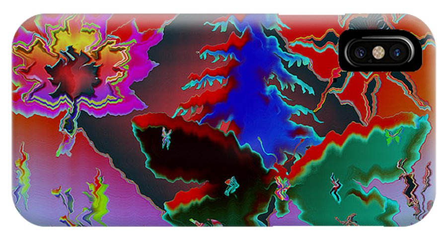 Abstract IPhone X Case featuring the photograph Absract by Donna Brown