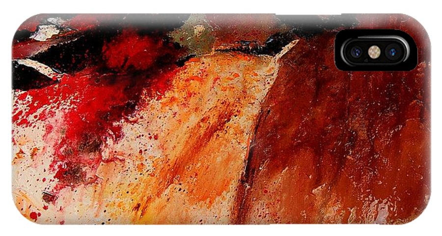 Abstract IPhone Case featuring the painting Abstract 010607 by Pol Ledent