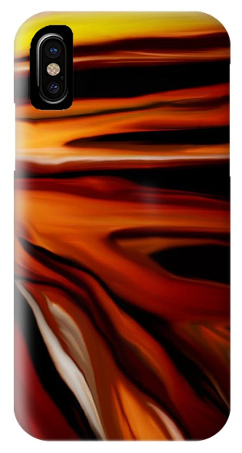 Digital Painting IPhone X Case featuring the digital art Abstract 02-12-10 by David Lane