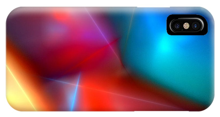 Digital Painting IPhone X Case featuring the digital art Abstract 060110 by David Lane