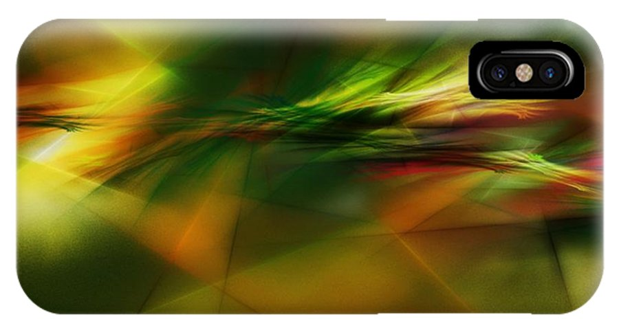 Digital Painting IPhone X Case featuring the digital art Abstract 060210 by David Lane