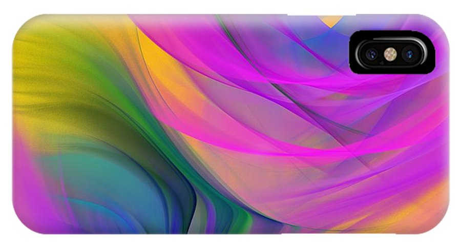 Fine Art IPhone X Case featuring the digital art Abstract 060611b by David Lane