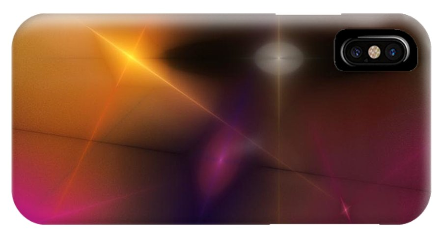 Abstract IPhone X Case featuring the digital art Abstract 071710 by David Lane