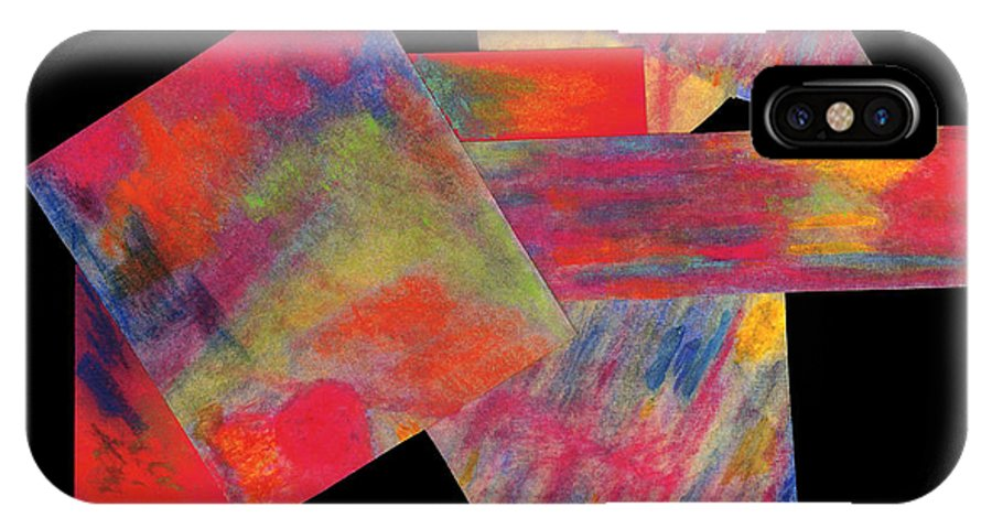 Painting IPhone X Case featuring the mixed media Abstract 1 by Mary Zimmerman