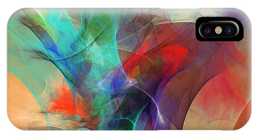 Fine Art Digital Art IPhone X Case featuring the digital art Abstract 103010 by David Lane