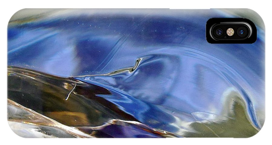 Blue IPhone X Case featuring the photograph Abstract 1184 by Stephanie Moore