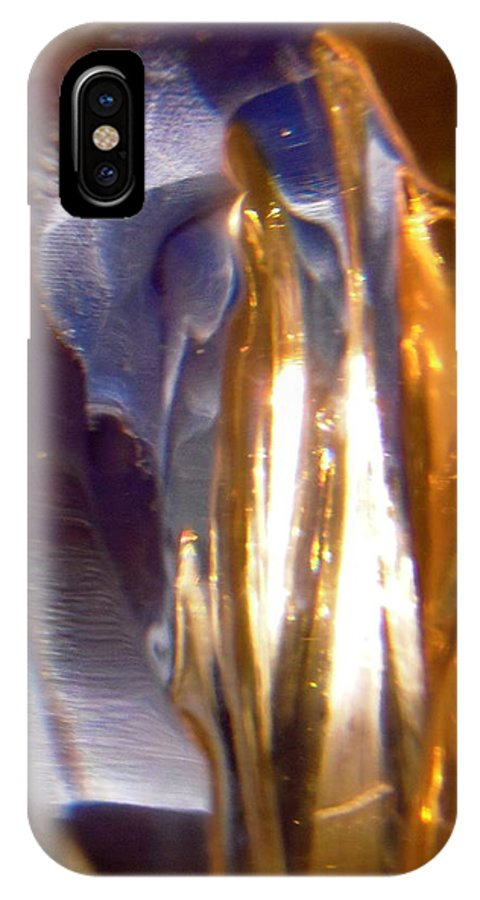 Gold IPhone X Case featuring the photograph Abstract 1185 by Stephanie Moore