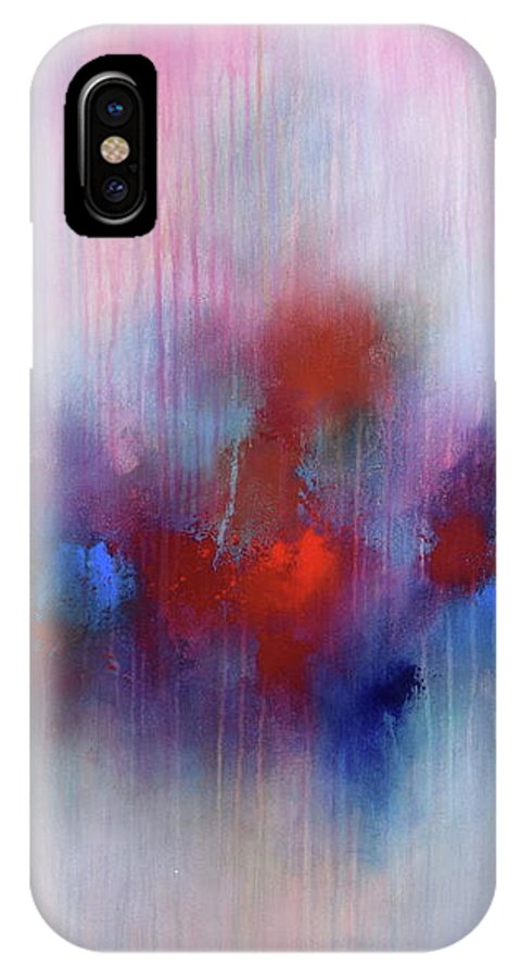 Abstract IPhone X Case featuring the painting Abstract Painting 137 by Bernd Weckenmann