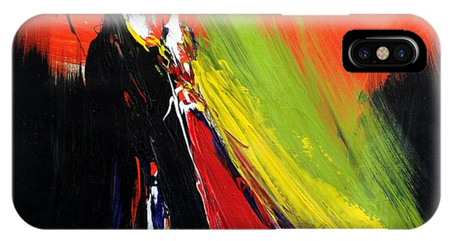 Abstract IPhone X Case featuring the painting Abstract 2002 by Mario Zampedroni