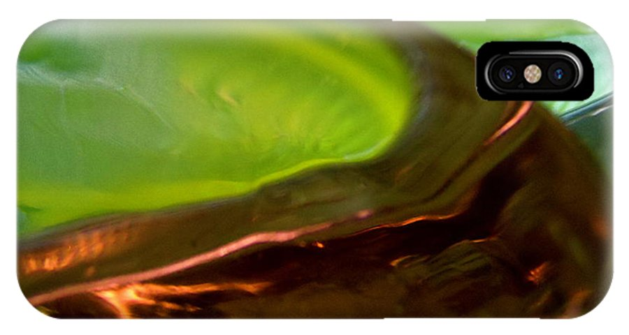 Abstract Shapes IPhone X Case featuring the photograph Abstract 260 by Stephanie Moore