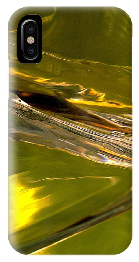 Abstract Shapes IPhone X Case featuring the photograph Abstract 268 by Stephanie Moore