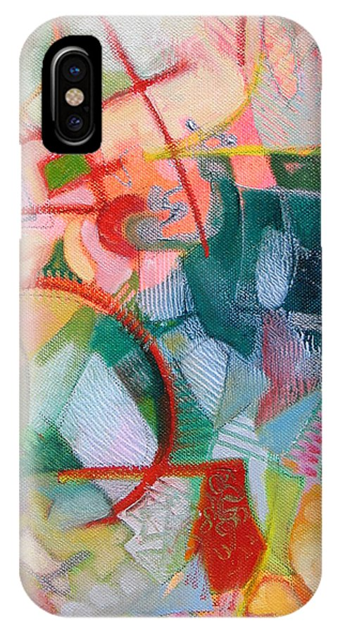Abstract Artwork IPhone X Case featuring the painting Abstract 3 by Susanne Clark