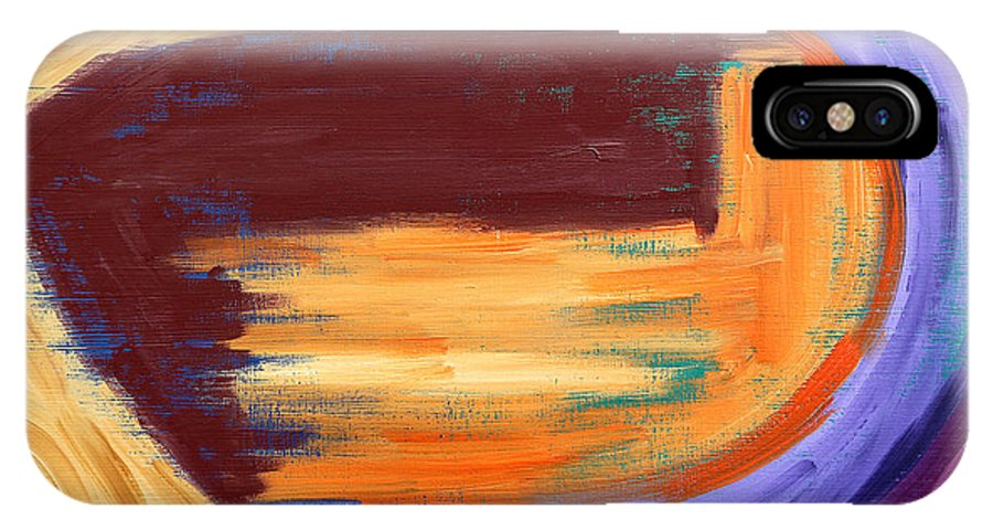 Abstract IPhone X Case featuring the painting Abstract 413 by Patrick J Murphy