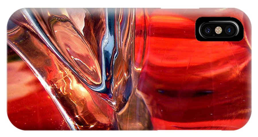 Abstract IPhone X Case featuring the photograph Abstract 418 by Stephanie Moore