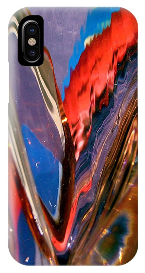 Abstract IPhone X Case featuring the photograph Abstract 426 by Stephanie Moore