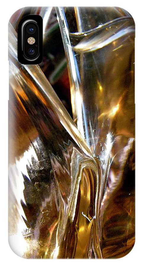 Abstract IPhone X Case featuring the photograph Abstract 438 by Stephanie Moore