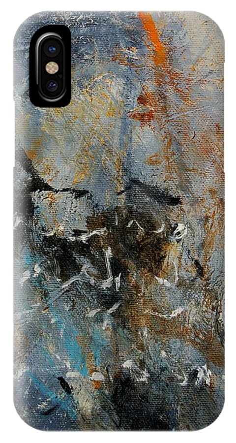 Abstract IPhone X Case featuring the painting Abstract 4526987 by Pol Ledent