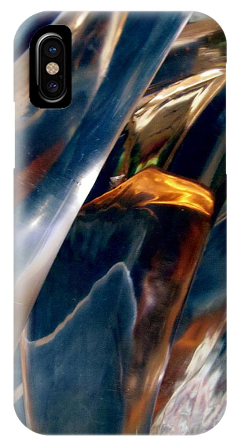 Abstract IPhone X / XS Case featuring the photograph Abstract 490 by Stephanie Moore