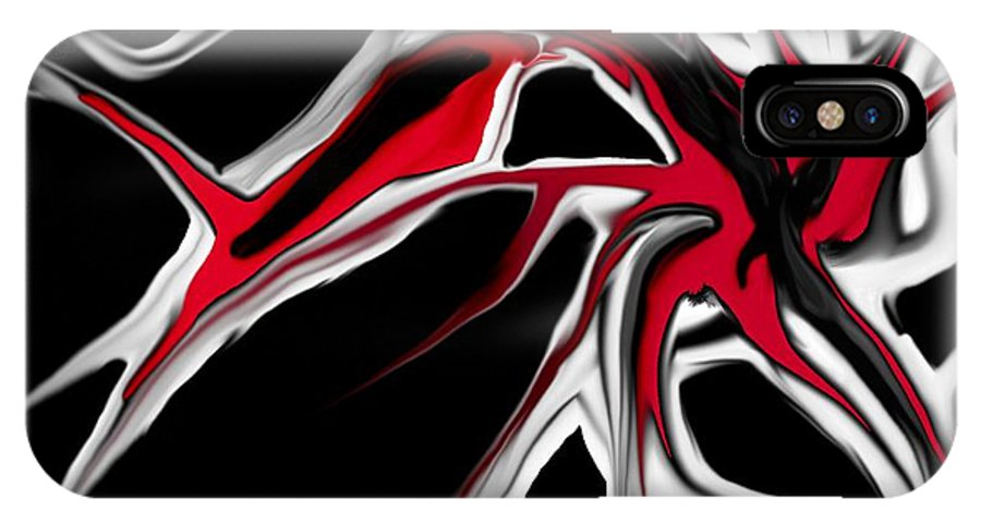 Abstract IPhone X Case featuring the digital art Abstract 6-14-09 by David Lane
