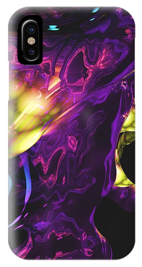 Abstract IPhone X Case featuring the digital art Abstract 7-25-09 by David Lane