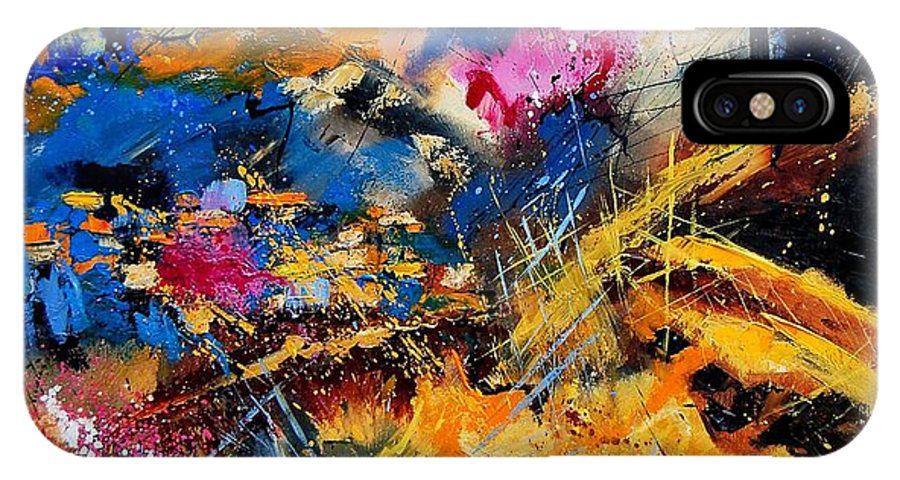 Abstract IPhone Case featuring the painting Abstract 7808082 by Pol Ledent
