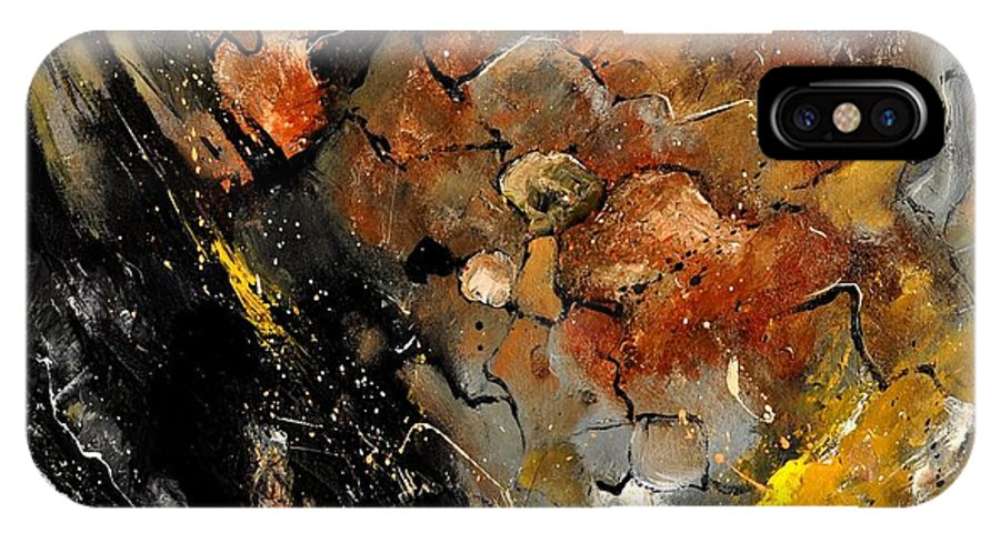 Abstract IPhone X Case featuring the painting Abstract 8811113 by Pol Ledent
