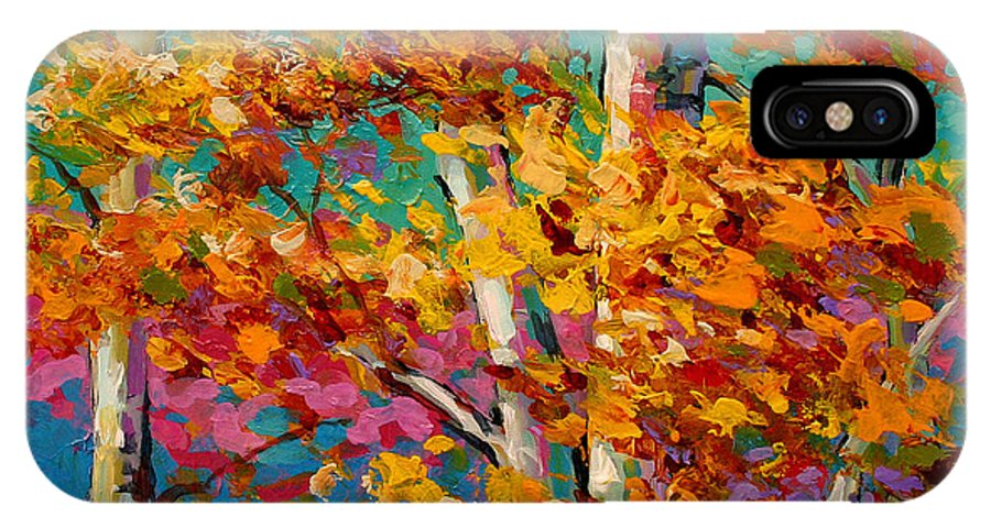 Trees IPhone X Case featuring the painting Abstract Autumn IIi by Marion Rose