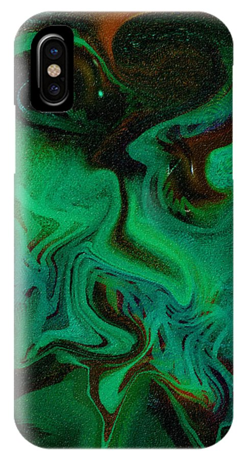 Abstract Design IPhone X Case featuring the digital art Digital Picture Abstract Bq166 by Oleg Trifonov