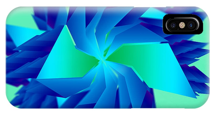 Abstract IPhone X / XS Case featuring the digital art Abstract Chill by Niran Wijewardene
