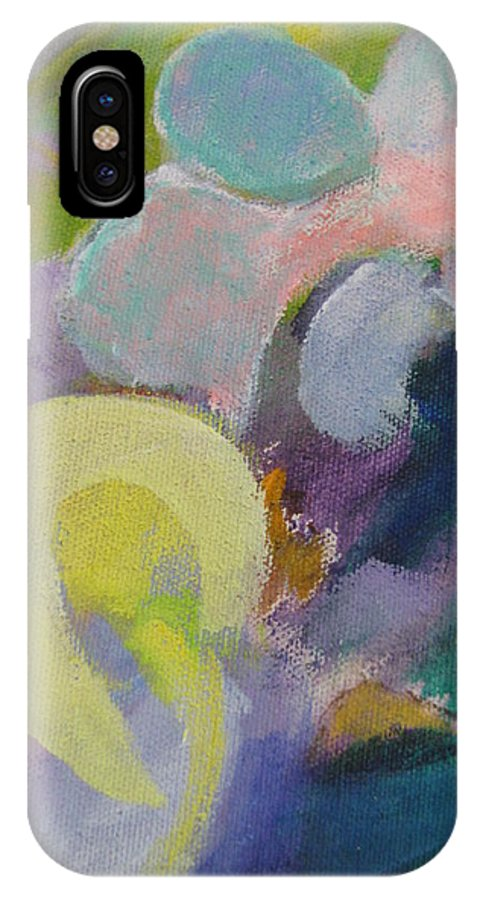 Abstact IPhone X Case featuring the painting Abstract Close Up 15 by Anita Burgermeister