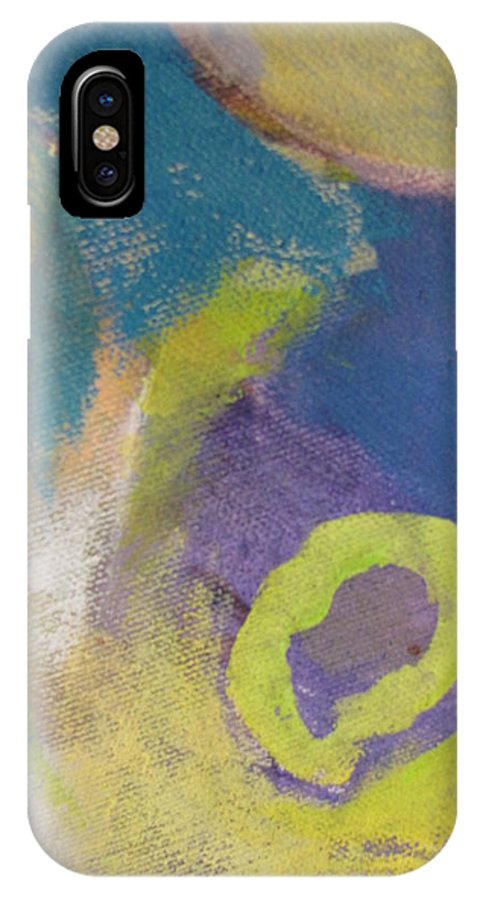 Abstact IPhone X Case featuring the painting Abstract Close Up 4 by Anita Burgermeister