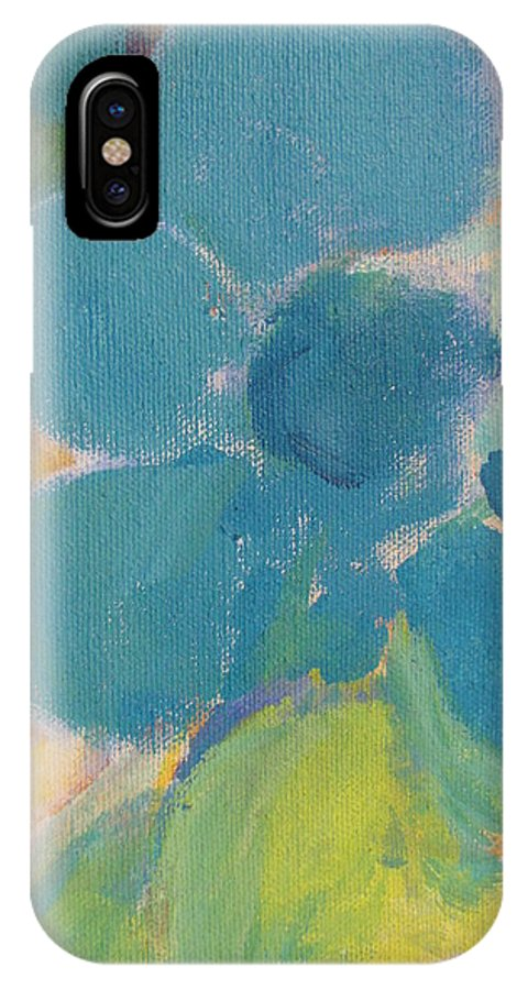 Abstact IPhone X Case featuring the painting Abstract Close Up 9 by Anita Burgermeister