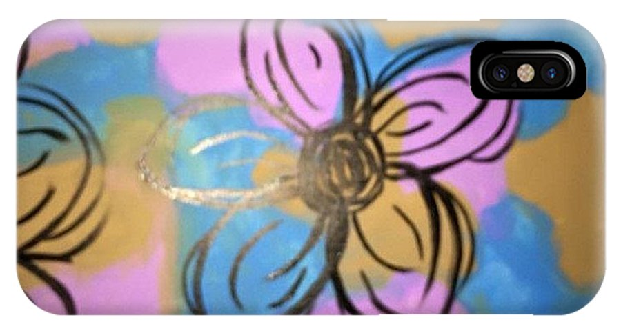 Daisies IPhone X Case featuring the painting Abstract Daisy by Sarah Campbell