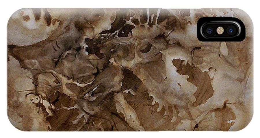 Large Original Painting Abstract Design IPhone X Case featuring the painting Abstract Design 2 by Michael Lang