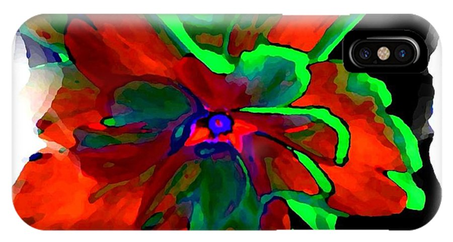Abstract IPhone X Case featuring the digital art Abstract Elegance by Will Borden
