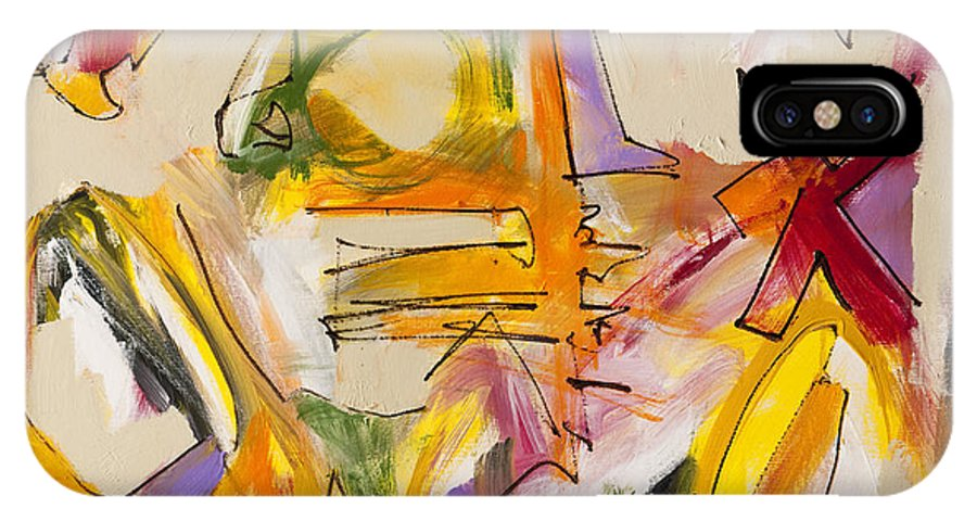 Abstract IPhone X Case featuring the painting Abstract Expressionism Two by Lynne Taetzsch