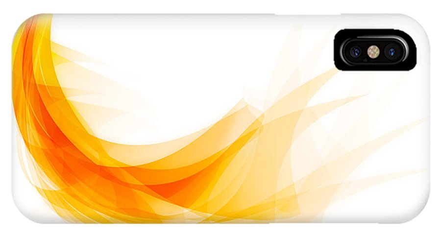 Abstract IPhone X Case featuring the painting Abstract Feather by Setsiri Silapasuwanchai