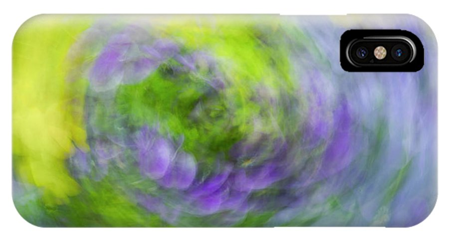 Abstract Art IPhone X Case featuring the photograph Abstract Flower-bed by Vyacheslav Isaev