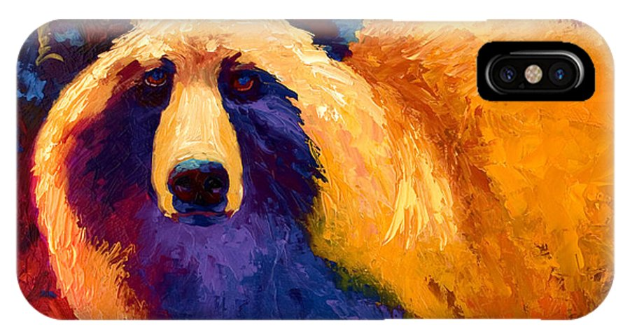 Western IPhone Case featuring the painting Abstract Grizz II by Marion Rose