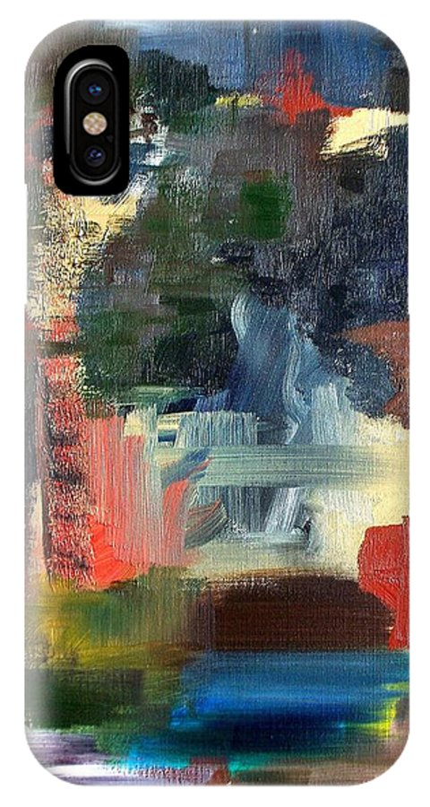 Art IPhone X Case featuring the painting Abstract Landscape by RB McGrath