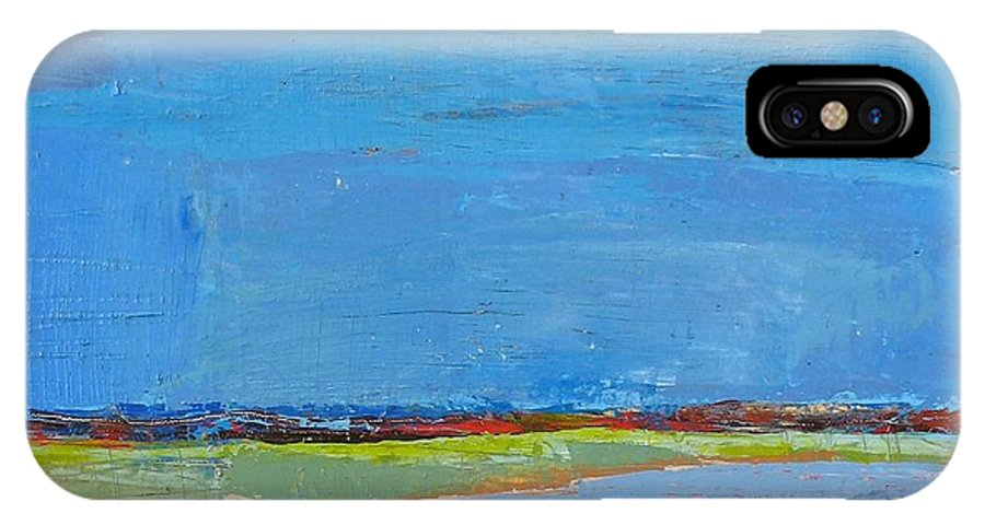 IPhone Case featuring the painting Abstract Landscape1 by Habib Ayat